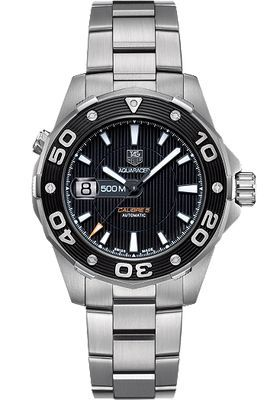 TAG Heuer Aquaracer 500 Automatic 43mm HEU0169539 http://www.deepbluediving.org/best-dive-computers-for-beginners/