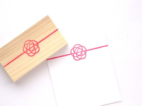 Japanese twine stamp, Mizuhiki stamp, Japanese stationery, Wedding decor DIY, Japanese apricot, Hira Ume Business card decor Hobonichi stamp