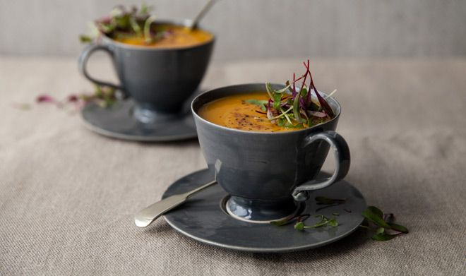 Four different flavours for butternut soup - Yuppiechef