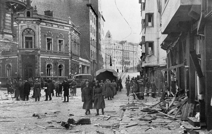 Bombing of Roobertinkatu by Soviets on 8 November 1942, Helsinki, Finland