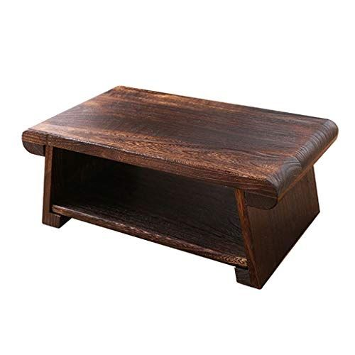 Furniture New Tatami Small Coffee Table Japanese Style Solid Wood Antique Tea Table Rectangle Computer Table Living Room Wooden Tea Table