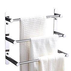 Contemporaine poli miroir résistant à la corrosion haute température finition chromée durable plaqué 304 Inox porte-serviettes mural 50cm. Accessoires de salle de bain: Amazon.fr: Cuisine & Maison