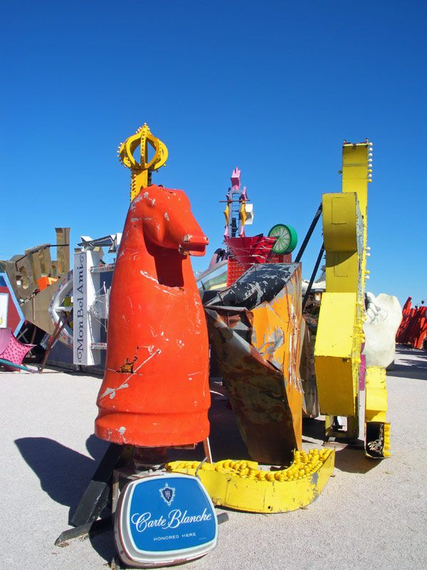 Check out the neon museum in Las Vegas, NV.