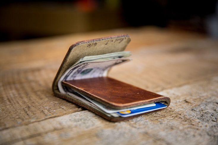Minimal Front-Pocket Wallet - Horween Leather Wallet in Natural Dublin by HarbingerLeatherDsgn on Etsy https://www.etsy.com/listing/221380800/minimal-front-pocket-wallet-horween