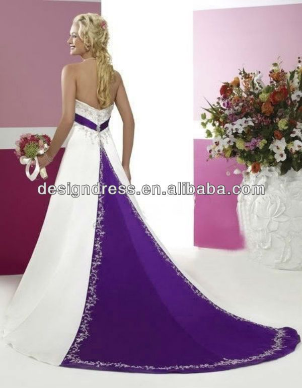 10 best things to wear images on pinterest bridal dresses faironly 2013 custom make elegant strapless a line purple and white wedding dress junglespirit Image collections