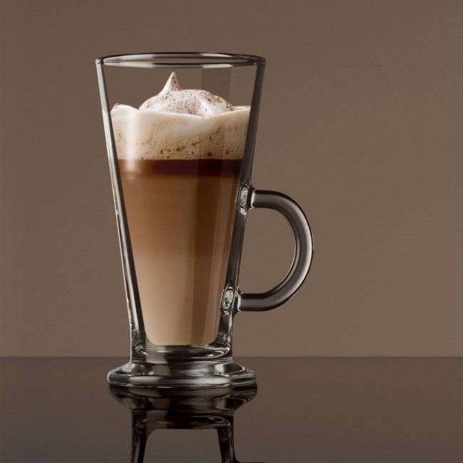 Enjoy a delicious and decadent Irish Coffee at your next dinner party with this set of glass mugs.