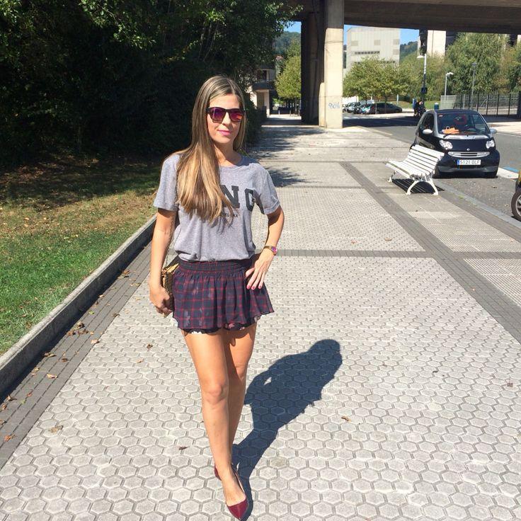 Camiseta #Mango falda pantalón #zara