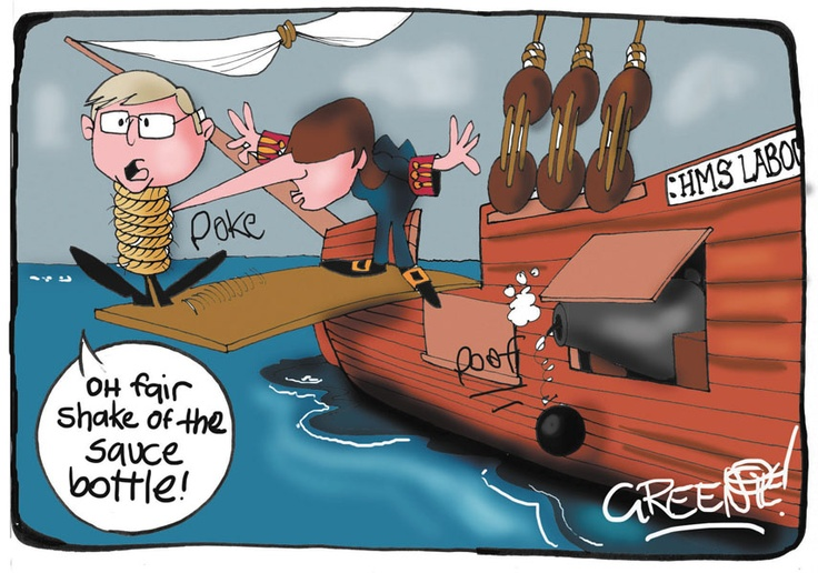Kevin Rudd at the end of the line.