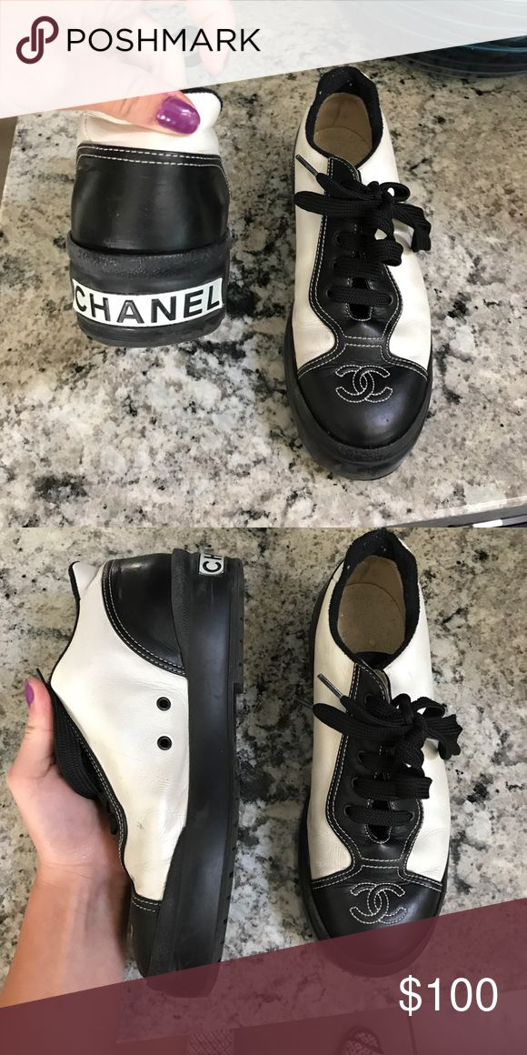 Chanel tennis shoes Super classy and cute Chanel shoes CHANEL Shoes