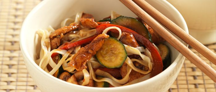 Asian Chicken Stir-fry recipe from Food in a Minute