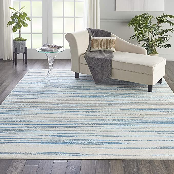 Nourison Jubilant Modern Coastal Blue Area Rug 7 10 X 9 10 8 X 10 In 2020 Rugs In Living Room Home Decor Coastal Rugs
