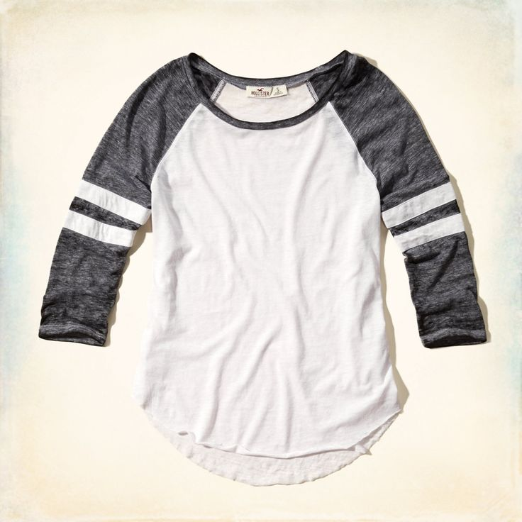 Girls Burnout Baseball Tee | Girls Tops | HollisterCo.com