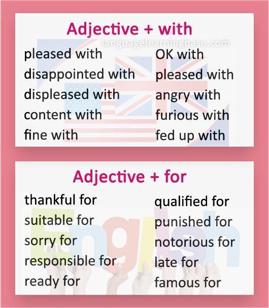 adjective preposition combinations exercises pdf