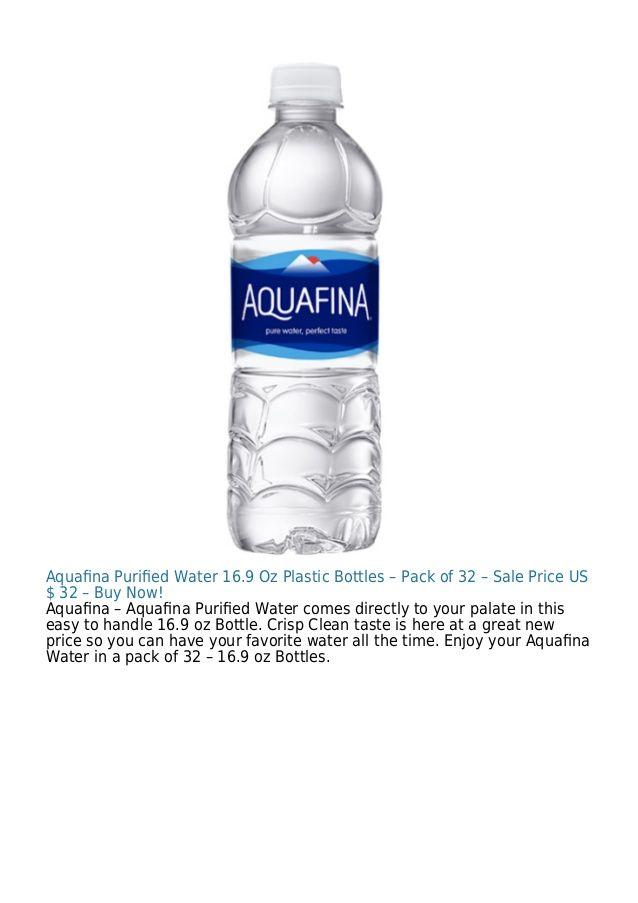 Aquafina Purified Water 16.9 Oz Plastic Bottles – Pack of 32 – Sale Price US $ 32 – Buy Now! Aquafina – Aquafina Purified Water...