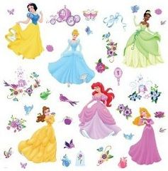 Disney Princess Peel & Stick Wall Decals With Gems Only $9.89!