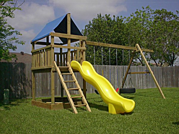 1000 images about playset ideas on pinterest diy swing for Wooden swing set plans