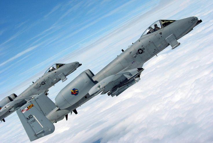 A-10 Warthog strike jets AKA Штурмовик A-10 Thunderbolt II (Бородавочник)
