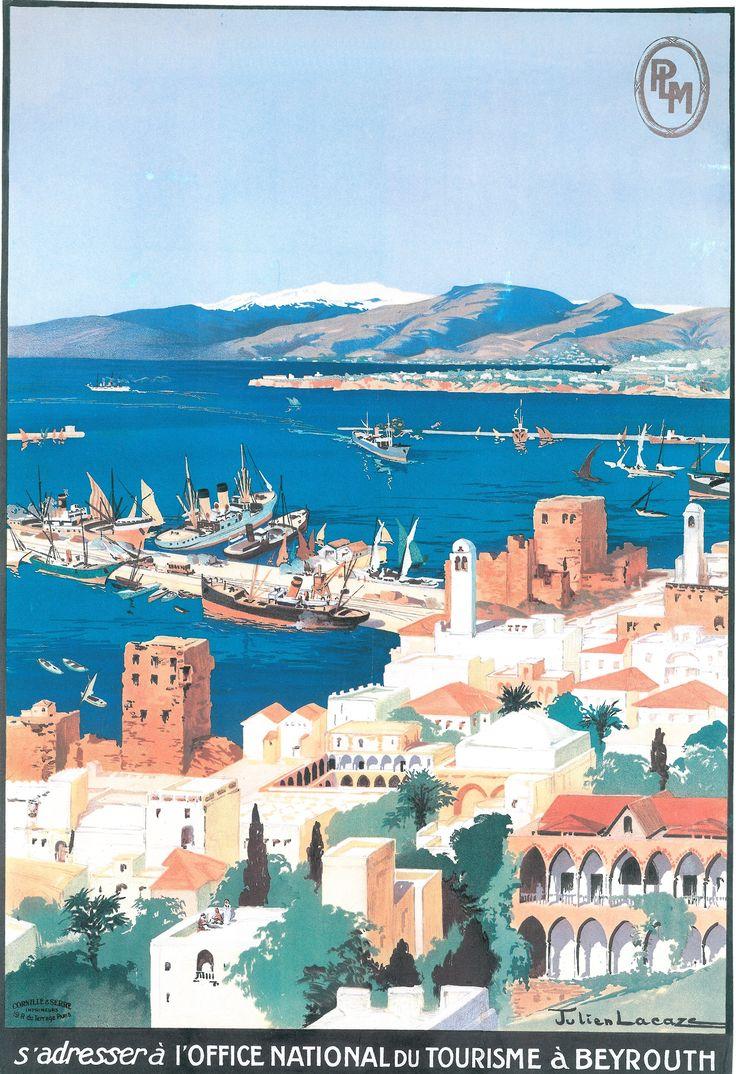 Le port de Beyrouth au Liban (Affiche PLM).