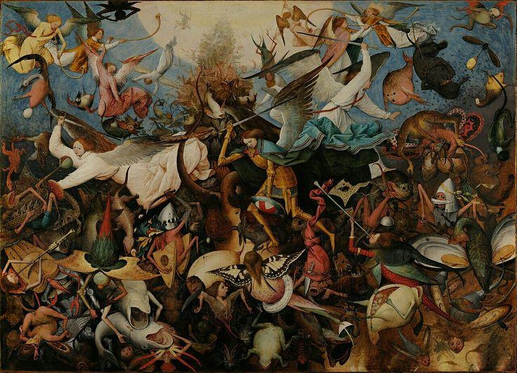 """Pieter Brueghel l'Ancien : """"La chute des anges rebelles"""""""