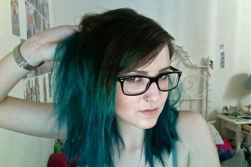 Dark brown and teal / green / blue ombre | Hair Stuff I ...