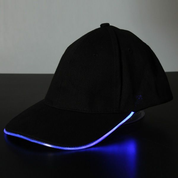 Bluelover Luce LED Glow Club Party sport atletico tessuto nero viaggio cappello