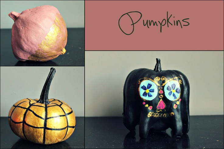 Painted sugar skull pumpkins...Sugar | Autumn and winter ...