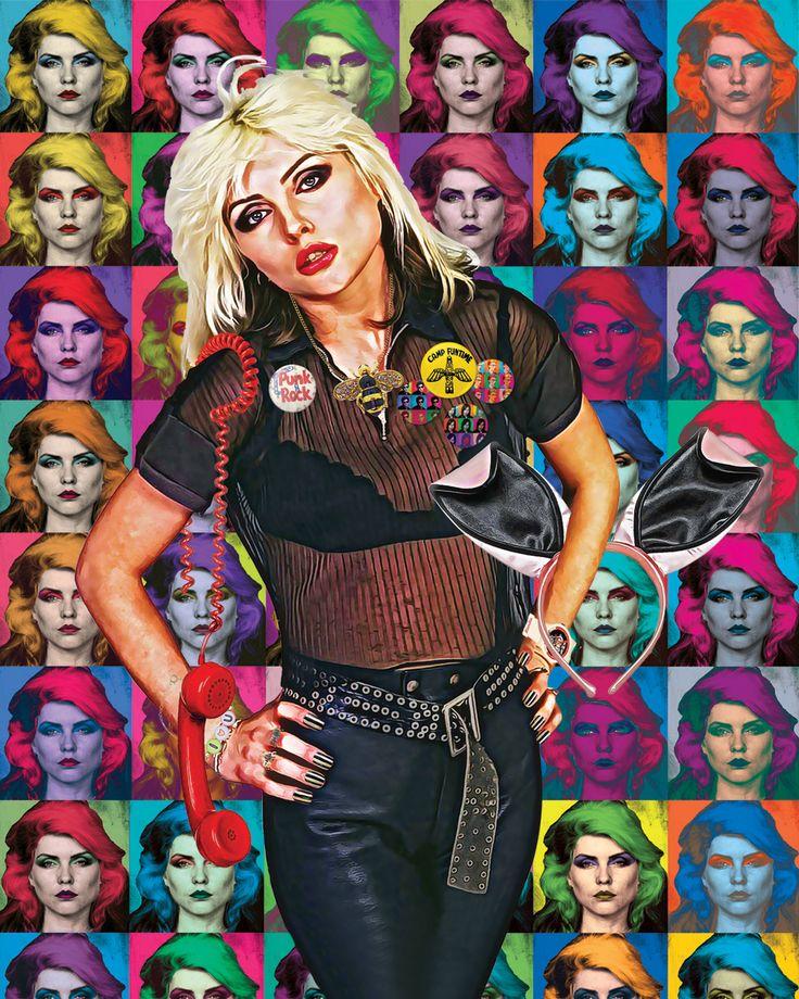 """Debbie Harry """"Rock Bird POP"""" #debbieharry #blondie #art #digitalart #popart #art"""