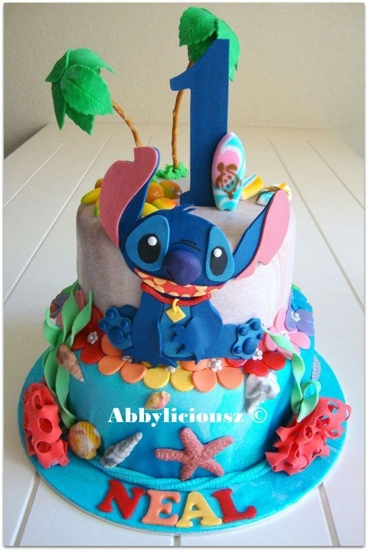 74 Best Cakes Lilo And Stitch Images On Pinterest Lilo Stitch