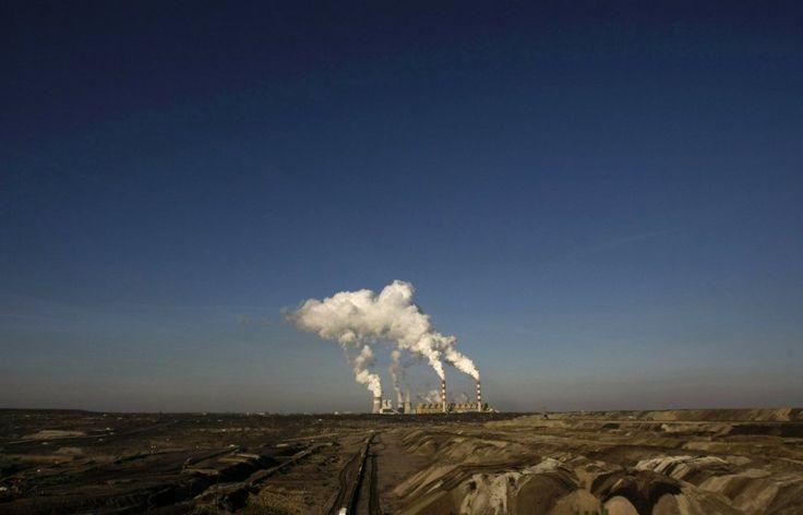 The Belchatow Coal Mine, biggest opencast mine of brown coal in Poland, is seen
