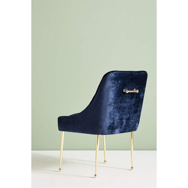 Anthropologie Slub Velvet Elowen Chair (26.235 RUB) ❤ liked on Polyvore featuring home, furniture, chairs, dining chairs, dinner chairs, anthropologie chairs, velvet dining chairs, velvet furniture and anthropologie dining chairs