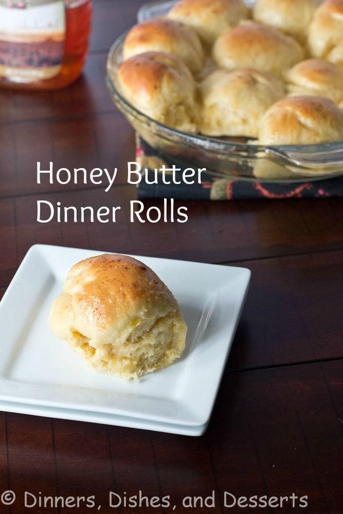 Honey Butter Dinner Rolls   @dinnersdishesdessert