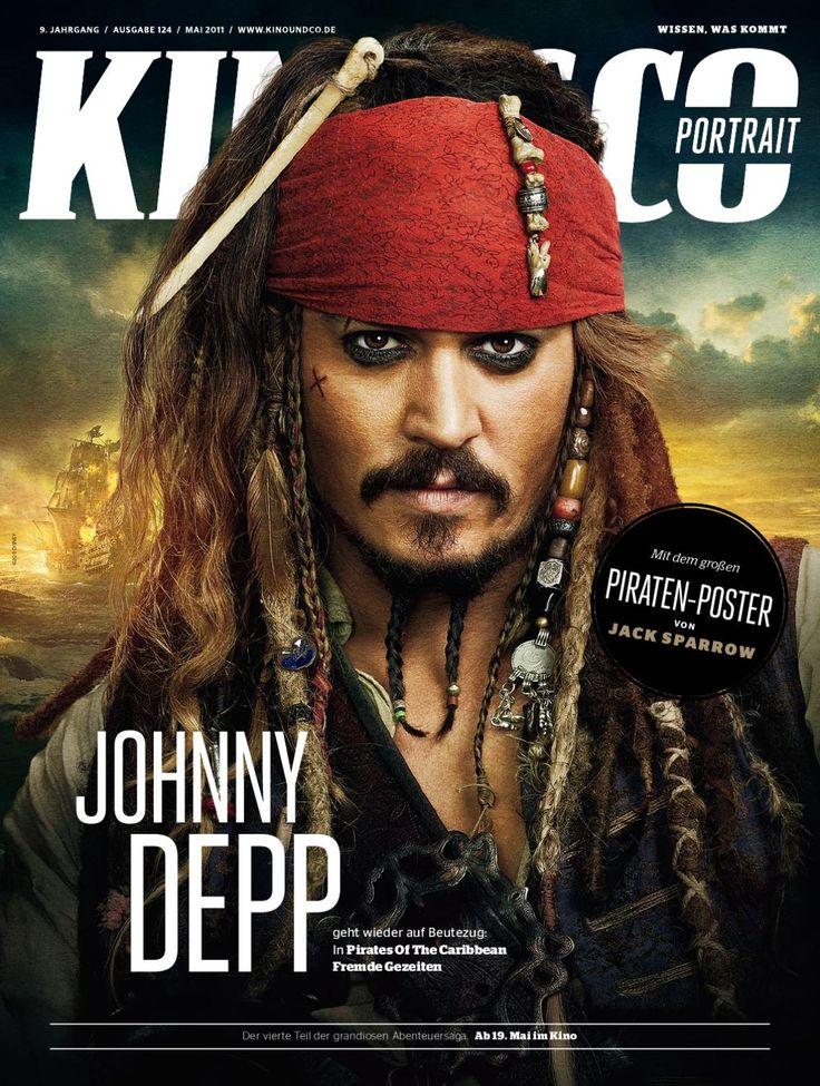 KINO&CO portrait: Johnny Depp  Johnny Depp geht wieder auf Beutezug:In Pirates Of The Caribbean – Fremde Gezeiten
