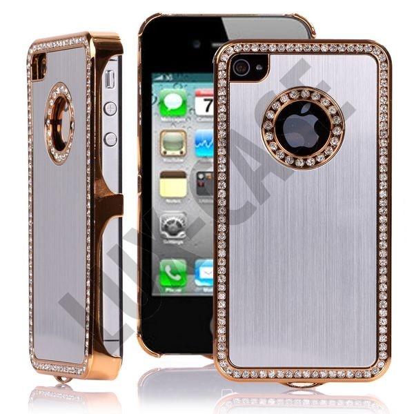 Jewel Golden Edge (Sølv) iPhone 4/4S Deksel