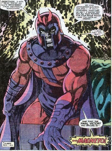 Last page of THE UNCANNY X-MEN #111 by John Byrne: Magneto Returns.