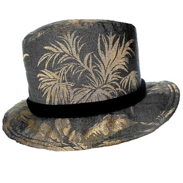 Charcoal Shimmer Top Hat