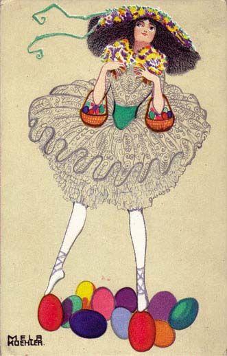 552. Mela Koehler - Wiener Werkstatte postcard