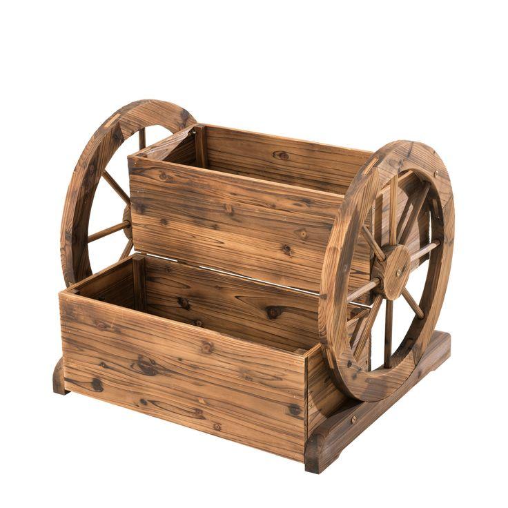 Novelty Wheelbarrow Planter Wheelbarrow planter, Wood