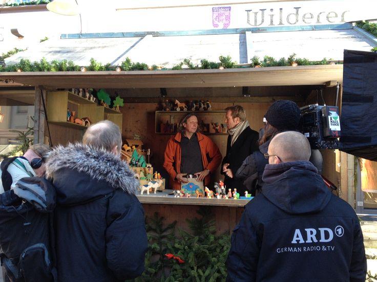 Dreh auf dem Weihnachtsmarkt in Ravensburg