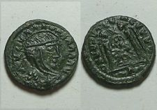 Barbaric imitaion follis of Constantine/Victory/Rare original ancient Roman coin