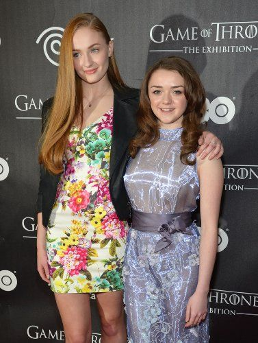 Maisie Williams and Sophie Turner at an event for Game of Thrones (2011)