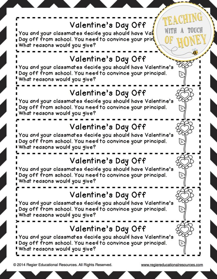 $ Need ideas to get your students writing? Promote writing with these Valentine's Day journal writing prompts.