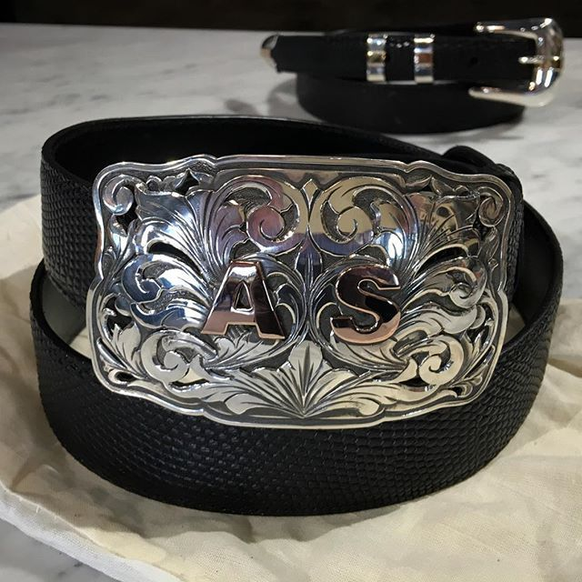 Beautiful Custom Buckle by our friends at Comstock Heritage.  Now there's a holiday gift idea!  @west_bh @westbh #custom #beverlyhills #rodeodrive #brentwood #calabasas #pasadena #houston #dallas #beltbuckle #dapper #menstyle #equestrian #rodeo #nashville