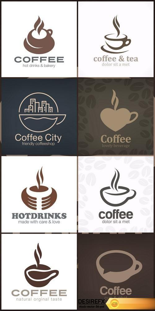 Cafe Coffee Tea Logo design vector template 8X EPS http://www.desirefx.me/cafe-coffee-tea-logo-design-vector-template-8x-eps/