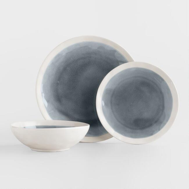 Gray Henley Dinnerware v1 worldmarket  $36/4 dinner plates