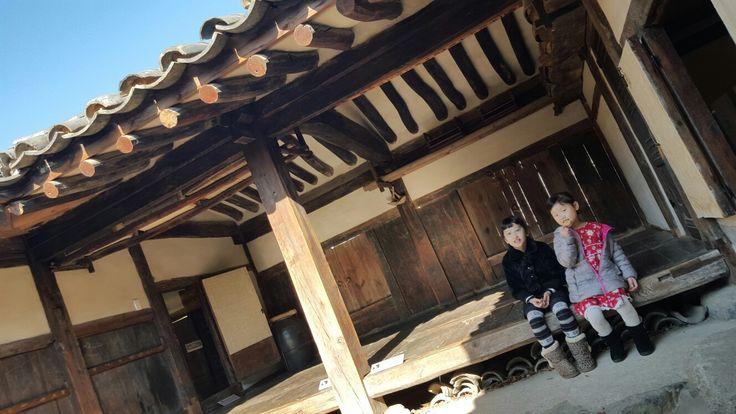 Traditional Korean house.