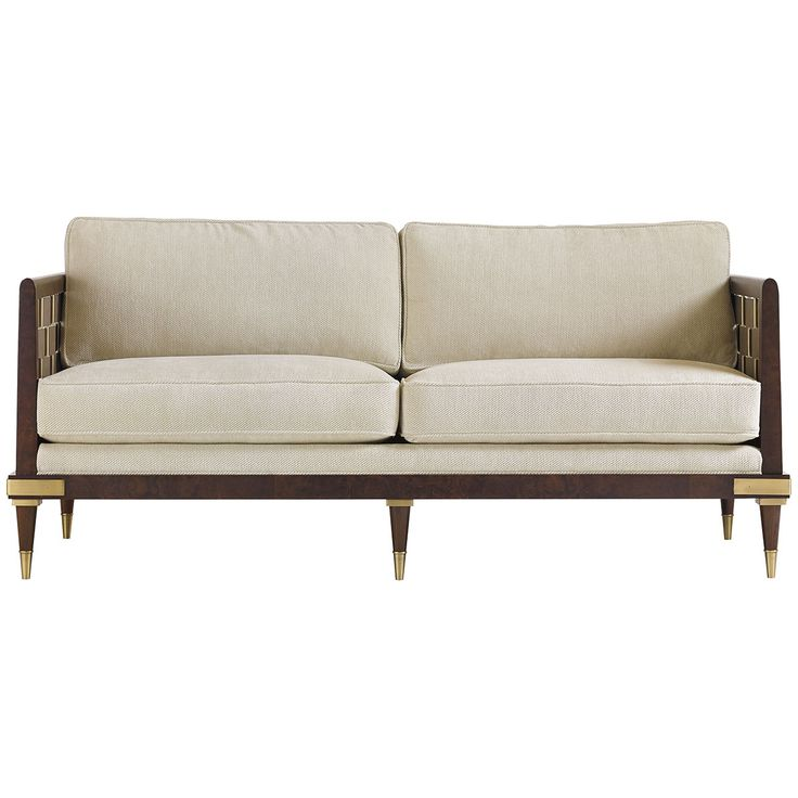 Caracole inter woven sofa uph sofwoo 44a caracole for Pinterest sofa