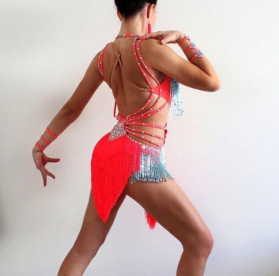 Vestido de concurso de baile de Salsa América Latina Caribe