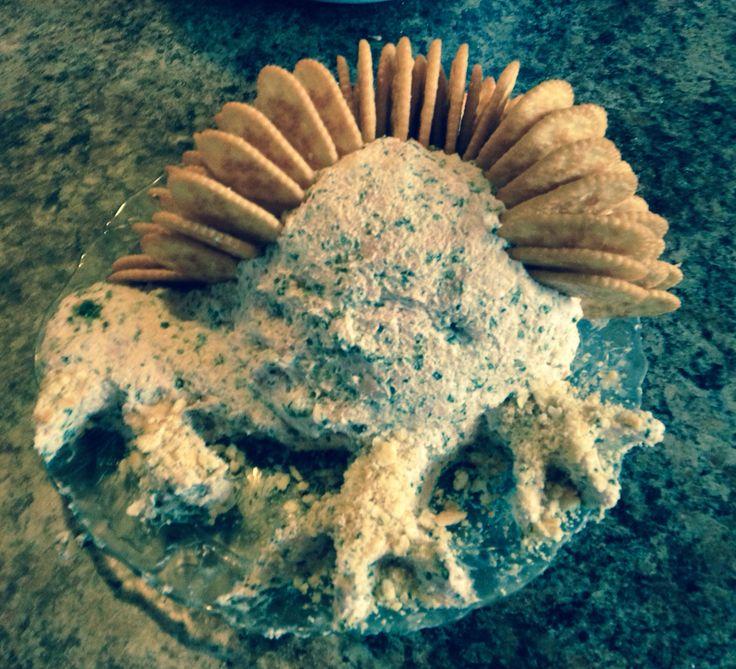 Thanksgiving ham ball shape of a turkey.