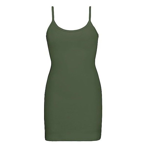 BKE Core Extra Long & Lean Tank Top (€12) ❤ liked on Polyvore featuring tops, green, extra long tops, green tank top, green tank, extra-long tank tops and green top