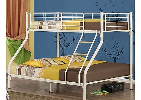 Birlea Nexus Triple Sleeper Bunk Bed in Cream The Birlea Nexus triple sleeper is a fantastic bunk bed that will look great in any bedroom. This bunk bed offers a single bed on top and a double bed on the bottom. It has a mesh base and a fixed l http://www.comparestoreprices.co.uk/bunk-beds/birlea-nexus-triple-sleeper-bunk-bed-in-cream.asp